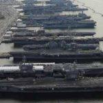 美國海軍能用的3艘航母 全部中招!